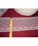 """4"""" Galoon double bordered cream lace  (10 yards) - $8.50"""
