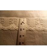 "Ivory Polyester Cotton Blend flat Lace Trim 2""  (10 yards) - $5.00"