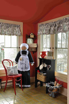 OVERSIZE for Dyson or Oreck Vacuum Cover Soft Sculpture Maid Nanny Black & White - $95.00