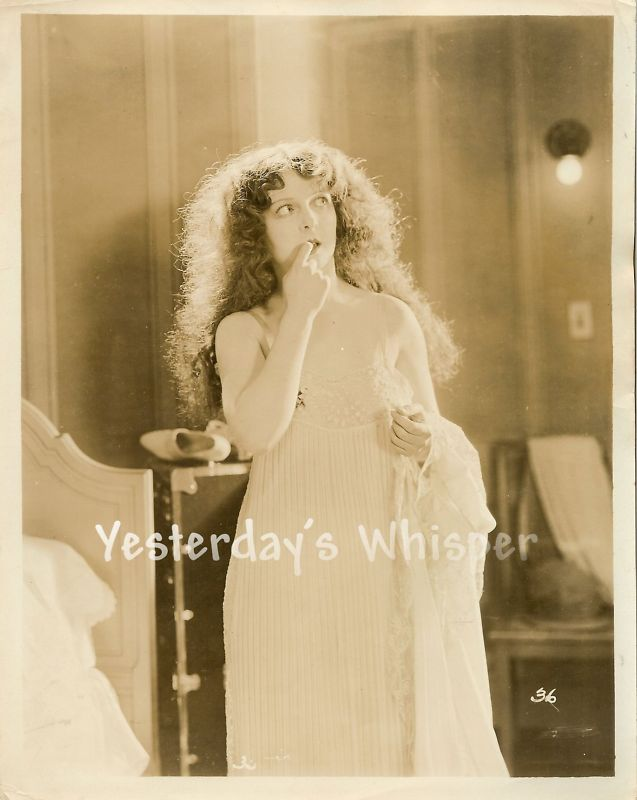 1920s Rare Mary Philbin Vintage Negligee Silent Photo