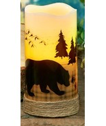 Bear LED Pillar Candles with 5 Hour Timer - Set of Two - Made with Real Wax - $42.00