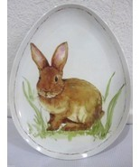 WELL DRESSED HOME EASTER SPRING BUNNY RABBIT MELAMINE SALAD EGG PLATES S/4 - €30,03 EUR