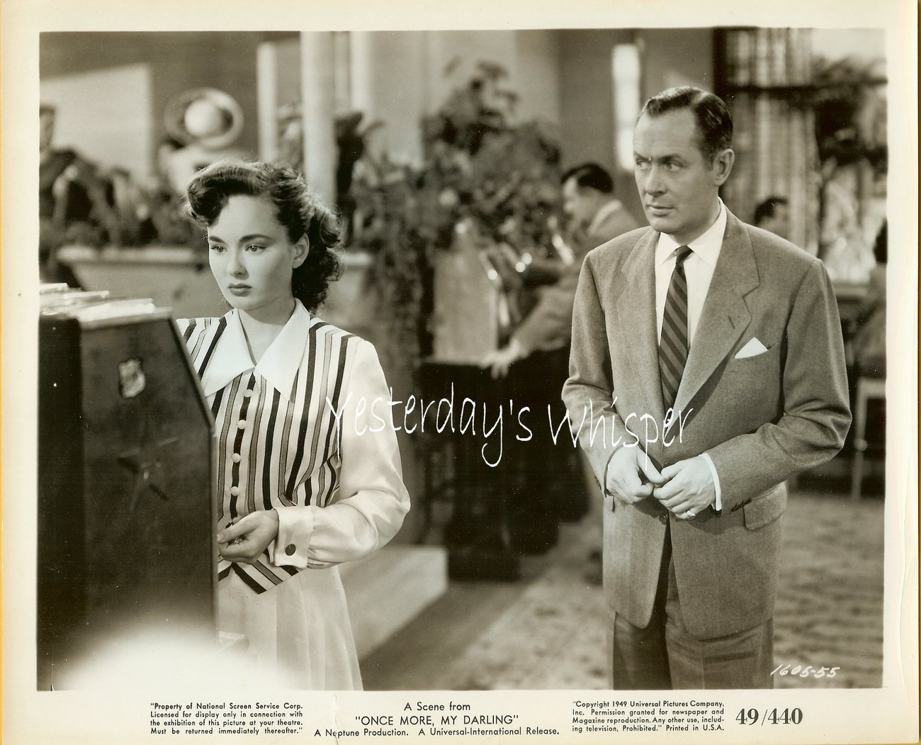 Ann BLYTH Robert MONTGOMERY Once More My Darling ORIGINAL 1949 Movie Photo