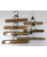 Wooden Pants/Skirt Hangers Lot of 7 clamp type - $36.65