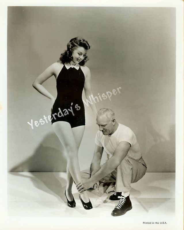 Ann Miller perhaps Sexy Leggy Swimsuit Babe 1940s Original Photo