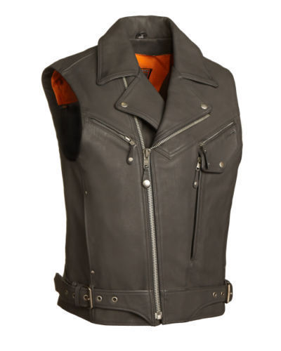 "FMC ""RECKLESS OUTLAW"" New Pistol Pete Motorcycle Leather Vest FIM622CSL"