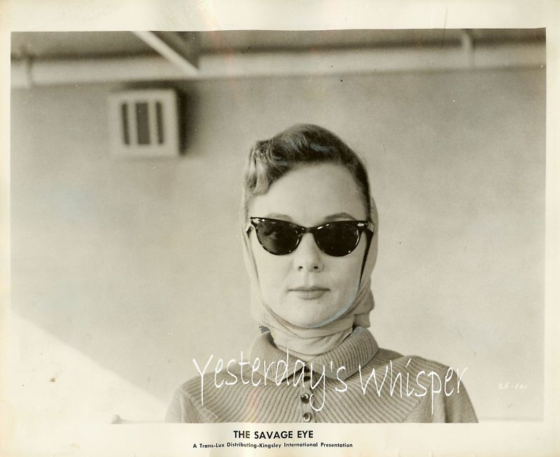 Barbara Baxley The Savage Eye Original Publicity Photo