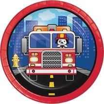 Flaming Fire Truck Dessert Plates (8) - $2.18
