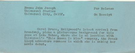 Carol Bruce Clingy body hugging dress LAKE TAHOE Original c.1941 Photo