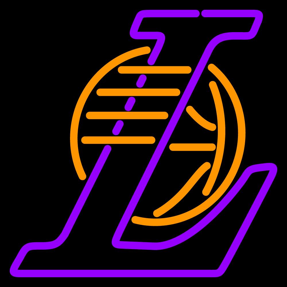 NBA Los Angeles Lakers Logo Neon Sign - Neon