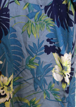 Caribbean Joe Subdued Hawaiian Floral Men SS Shirt  Washable Rayon Blues... - $15.35