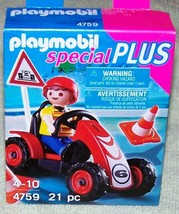 Playmobil  Boy with Racing Car 4759  New - $10.88
