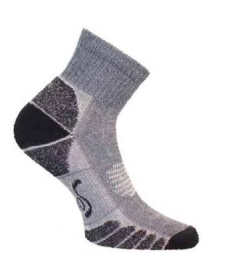 Eurosocks 3356 CoolMax Walking and Camping Lightweight Quarter Socks, Navy, S...