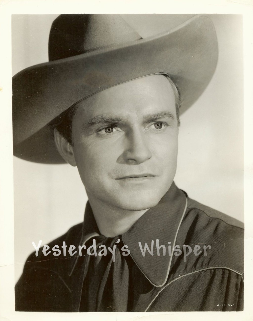 Cowboy Don RED Barry Original c.1941 Portrait Publicity Photo