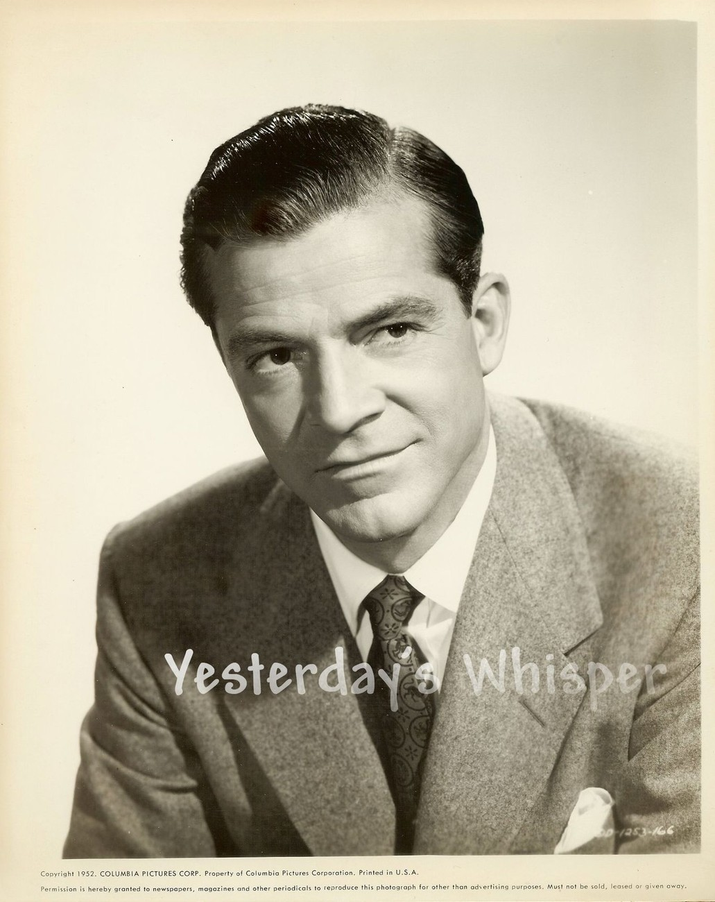 Dana ANDREWS Publicity Portrait Original c.1952 Vintage Publicity Photo