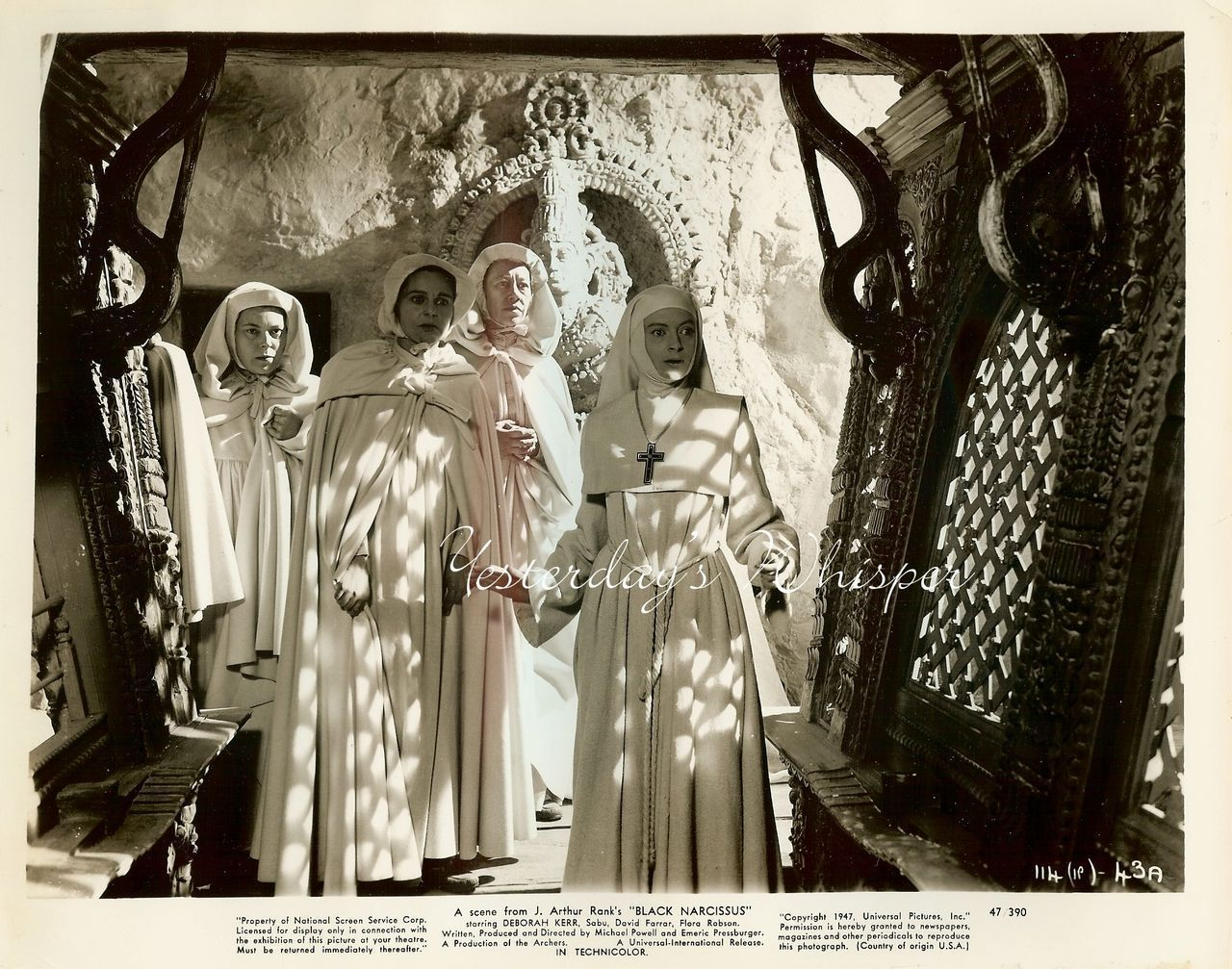Deborah KERR NUN Powell-Pressburger BLACK NARCISSUS Original 1947 Photo