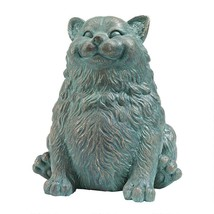 Ardent Appetite Fat Feline Happy Smiling Kitty Cat Home Garden Sculpture - $64.30