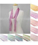 12 PCs Wholesale Women Crochet Bling Shine Thread Multi Color Knitted Sc... - $30.15