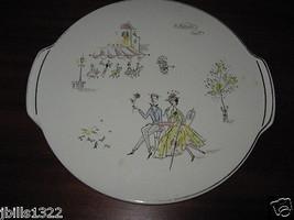Echt Keramik Grundstadt Footed Cake Platter Round Trivet Centerpiece Ga... - $19.95