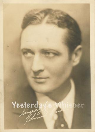 Edmund Löwe Original 1920s Fan Publicity 5x7 Photo
