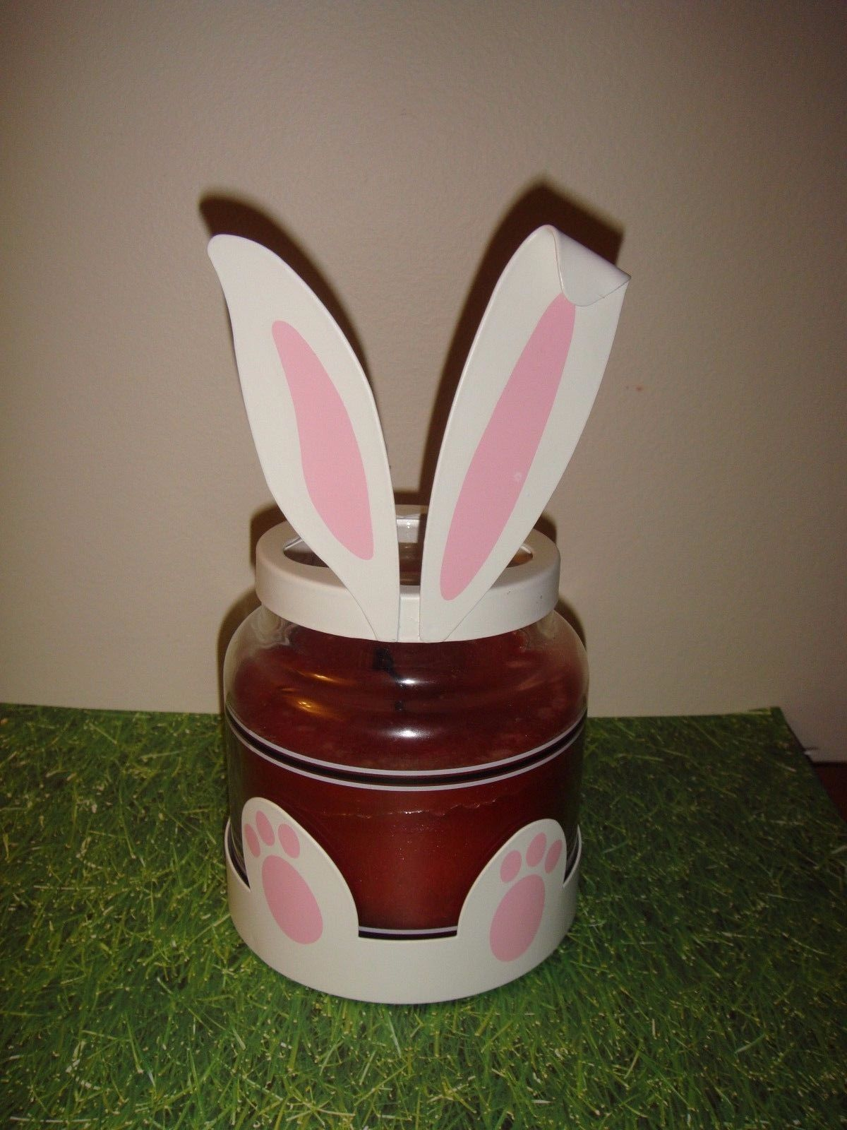 Yankee Candle Bunny Ears Jar Topper And Bottom Paws Metal