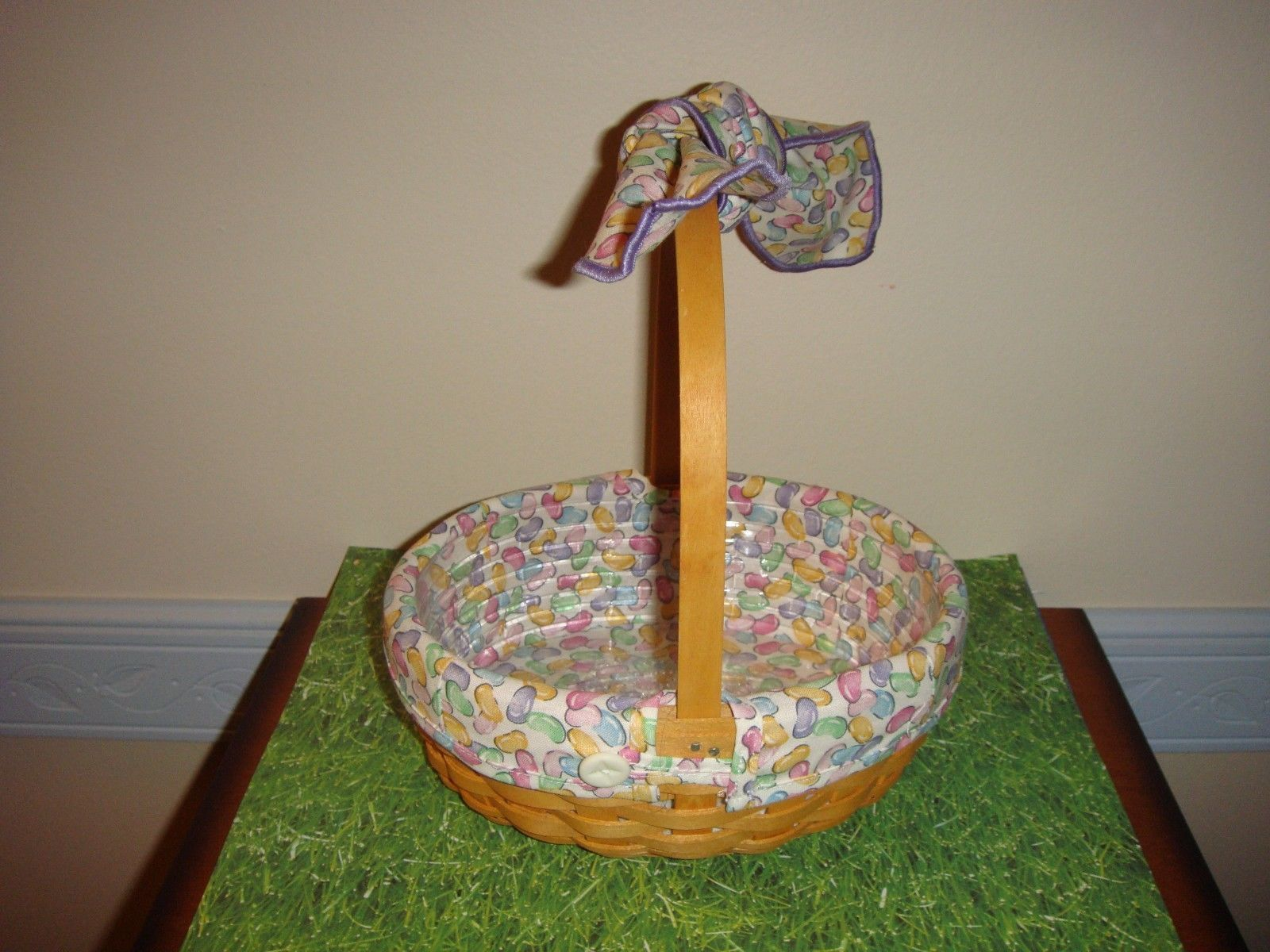 Primary image for Longaberger 2002 Small Easter Basket Combo & Large Jelly Bean Handle Tie