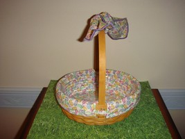 Longaberger 2002 Small Easter Basket Combo & Large Jelly Bean Handle Tie - $46.99