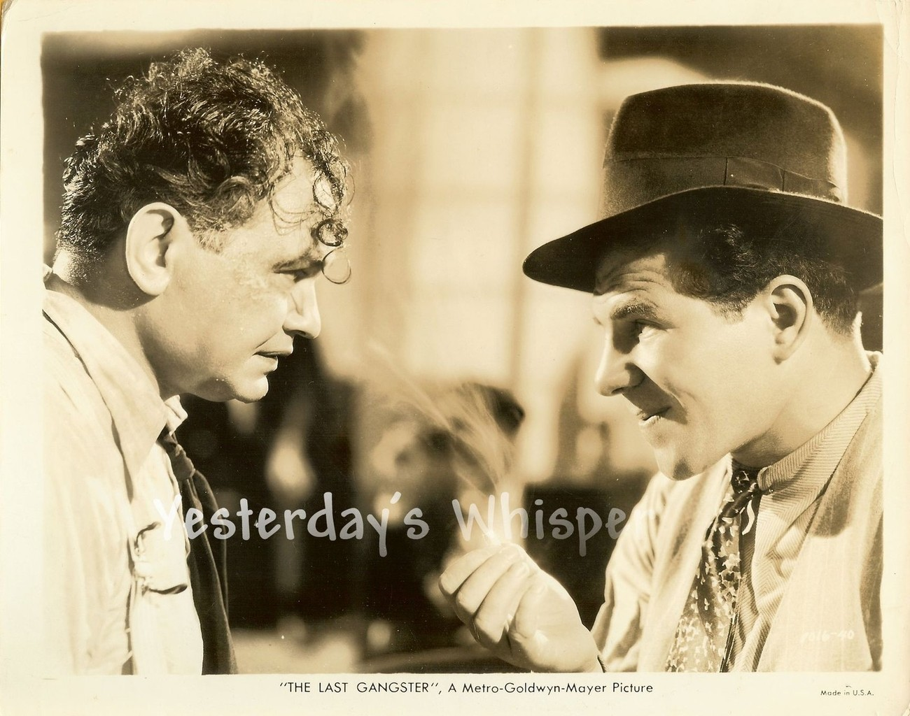 Edward G. Robinson THE LAST GANGSTER Original c.1937 MGM Movie Photo