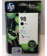 HP 98/95 Combo Pack Tri-Color/Black Ink (CB327FN) Expired Oct 2016 - $22.76