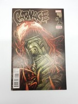 Carnage #1 January 2016 Volume 2 First Print Marvel Comic Book Damaged Cover  - $3.99
