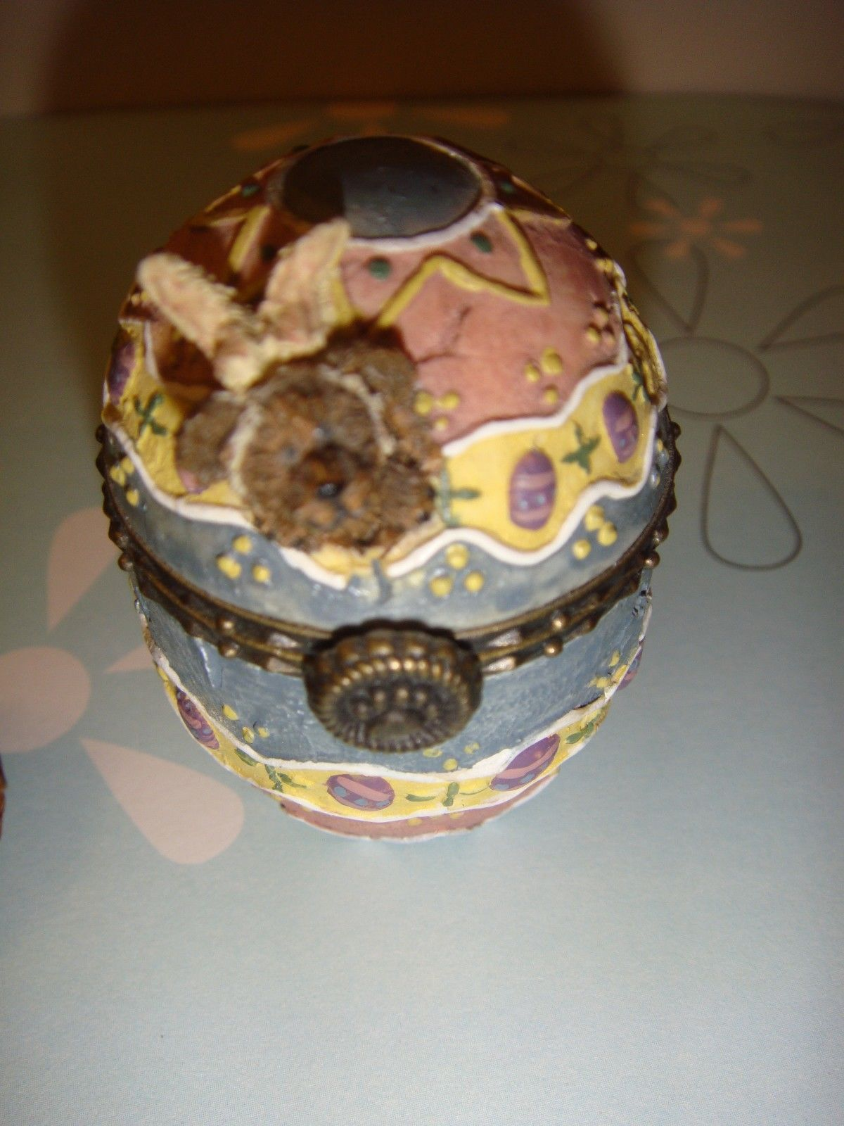 Boyds Bears Treasure Box Watson's Fabearlous Egg W/Peep McNibble