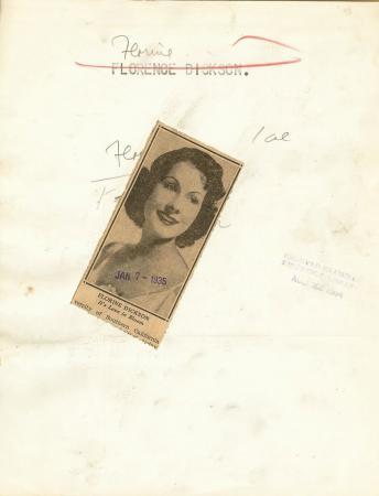 Florine Dickson Starlet c1935 Original Publicity Photo