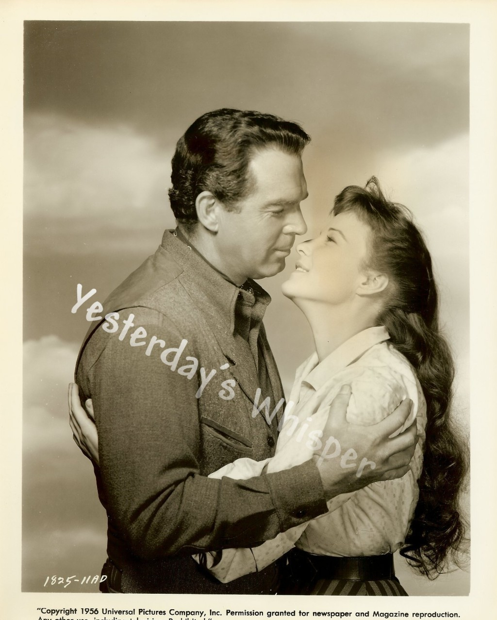 Fred MacMurray Janice Rule GUN FOR A COWARD c.1956 Original Universal Photo