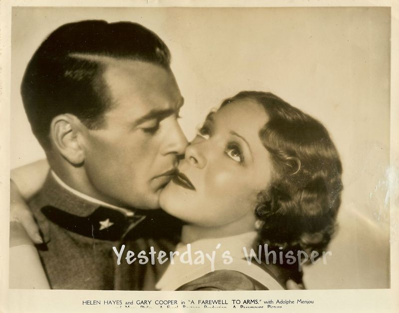 Gary Cooper Helen Hayes Farewell to Arms Original Photo