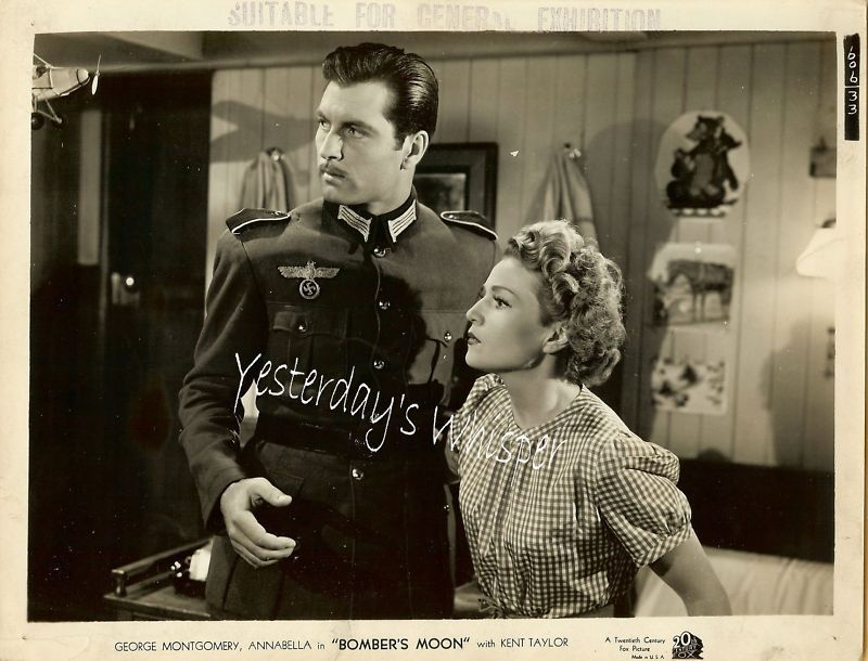George Montgomery Annabella Bombers Moon Original Photo