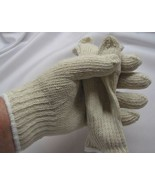 gloves knit  New White Knit Gloves Soft Drive W... - $7.95