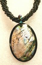 Women's Fashion New Zealand Paula Shell MahoraHora Black Beaded Necklace - $34.99