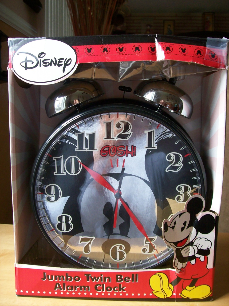 Primary image for Disney Mickey Mouse Oversized Twin Bell Alarm Clock