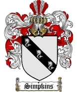 Simpkins Family Crest / Coat of Arms JPG or PDF Image Download - $6.99