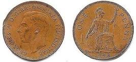 1948 George VI One Penny - VF - $3.91