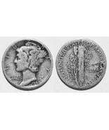 1942-D Mercury Silver Dime - Very Good+ - $5.89