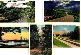 Lot of 5 Southern States Highway Scenics from 1940's - $7.87