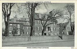 1930's Carvel Hall, Prince George St., Annapolis, Maryland - $9.85