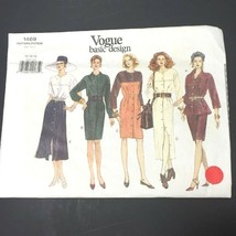 Vogue Sewing Pattern 1469 Uncut FF Dress Top Tunic Skirt 12 14 16 Vintag... - $10.66