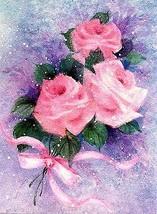 1982 Hallmark tm. Roses Miniature Greeting Card - $1.93