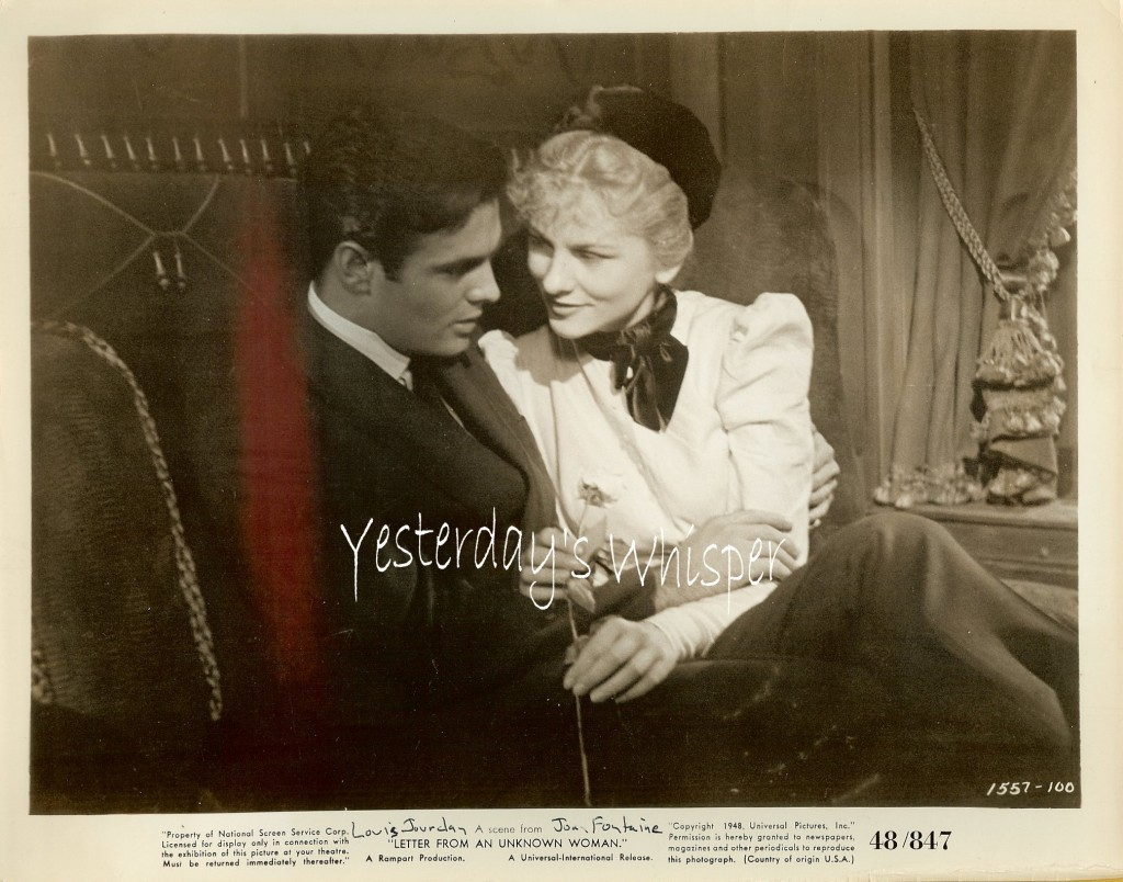 Joan FONTAINE Louis JOURDAN Letter from an Unknown Woman ORIGINAL 1948 Photo