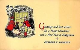 """1940's """"Charles V. Barrett"""" Christmas carolers - $3.91"""