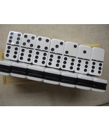 dominoes d6 black white New Wood Box Dominoes Bk/Wh Duplex Free Shipping... - $42.95
