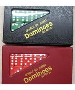 dominoes jumbo sz New 2 Sets Jumbo Christmas Dominoes Red Green Free Shi... - $39.95