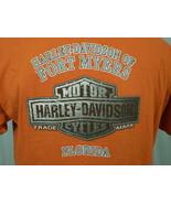 Harley-Davidson Orange Pocket T-Shirt XL Fort Myers, Florida - $20.00